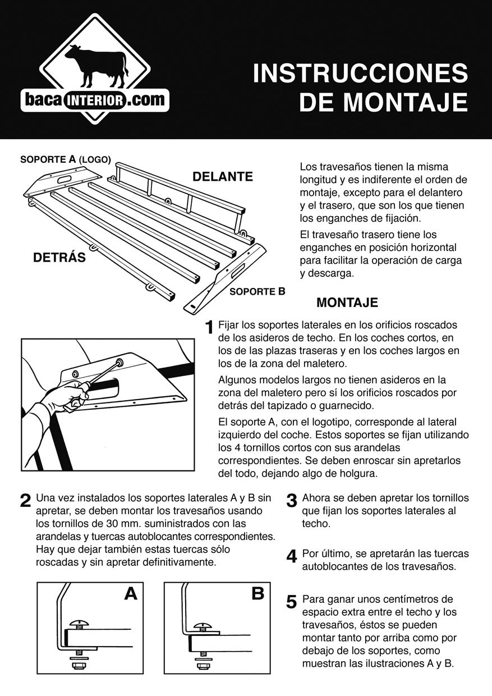 Bacainterior desarrollo - Instrucciones montaje cuna ...